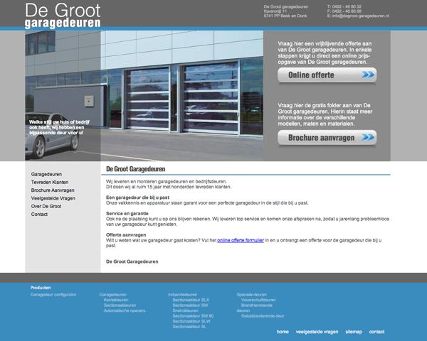 website in garagedeuren