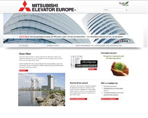 Mitsubishi liften-website