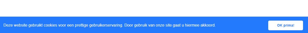voorbeeld cookiemelding in website